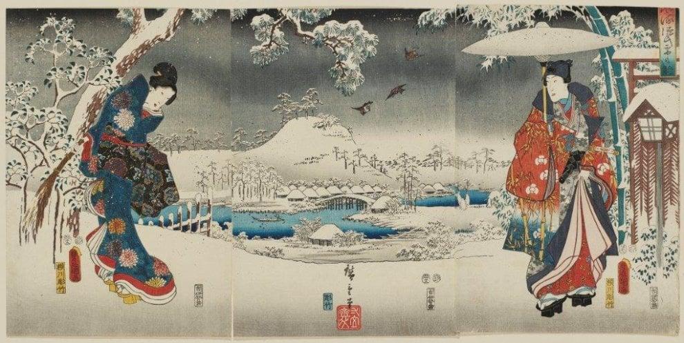 Stili e forme di pittura giapponese... Hiroshige._visioni_dal_giappone
